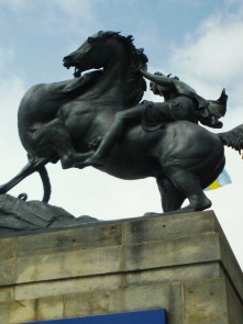 A statue of an Indian on Horseback at the Philadelphia Museum of Art