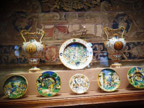 A set of plates and vases in the collection of the Philadelphia Museum of Art