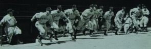 Phillies Run onto Field at Shibe Park