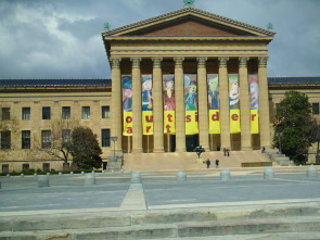 An additional eastern view of Philadelphia Museum of Art