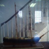 A model sailing ship in  the Pastor's reception room at St. George's