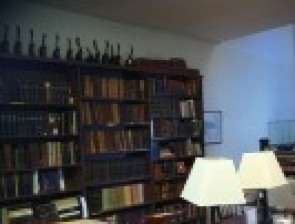 A picture of the reception area for the pastors office