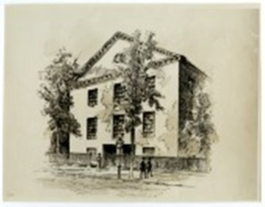a drawing of St George's United Methodist Church from 1769