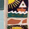 Al-Aqsa Society mural: sailboat detail. Image provided by Historical Society of Pennsylvania