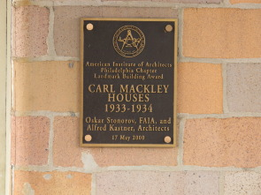 Mackley Apartments, landmark building status awarded to the the Carl Mackley Houses by the American Institute of Architects - Philadelphia Chapter
