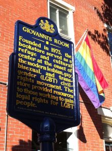 Historical Marker for Giovanni's Room