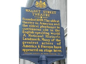 Walnut Street Theatre Plaque