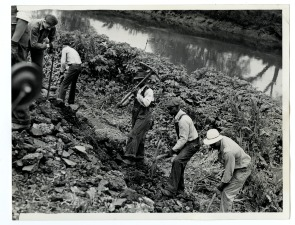 Tearing down dike in Eastwick
