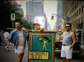 Ted Faigle, Ed Hermance, Tim Birch in New York, 1989