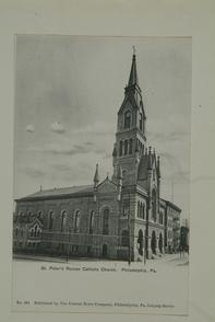St. Peter's Roman Catholic Church, Philadelphia, Pa.. Image provided by Historical Society of Pennsylvania