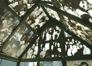 Glass roof at Congreso de Latinos Casita. Image provided by City of Philadelphia Department of Records