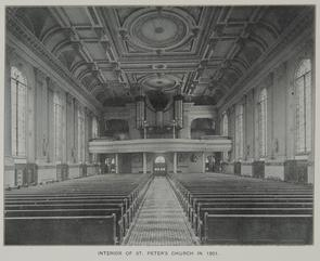 Interior of St. Peter's Church in 1901. Image provided by Historical Society of Pennsylvania