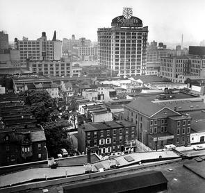 View of Schmidt's Brewery neighborhood. Image provided by Temple University Urban Archives