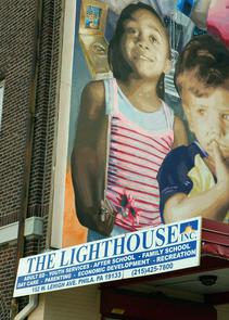 The Lighthouse mural. Image provided by City of Philadelphia Department of Records