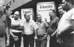 Schmidt's Brewery drivers. Image provided by Temple University Urban Archives