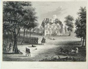 Mid-19th century engraving of the Battle of Germantown