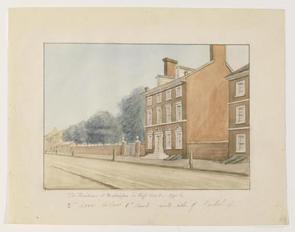 Watercolor of the President's House, 1795.