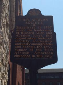 Free African Society Marker