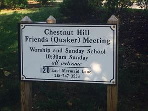 Chestnut Hill Friends Sign