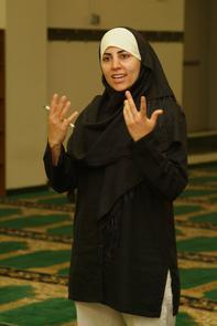 Adab Ibrahim at Al-Aqsa Islamic Society.. Image provided by Historical Society of Pennsylvania