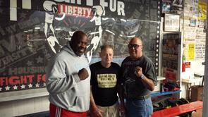 Front Street Gym - Staff (Left to Right) Terrence Lewis, Frank Kubach and Orlando Perez.