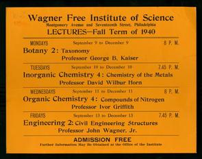 Wagner Institute Lecture Guide