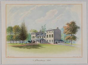 Early drawing of Strawberry Mansion