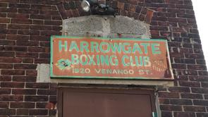Harrowgate Boxing Club - Entrance Sign