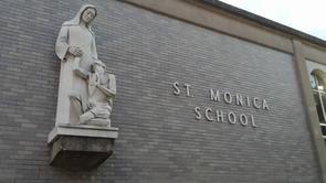 Saint Monica School Sign
