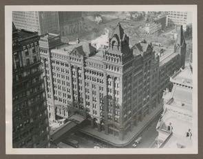 Aerial View of Broad Street Station. (Notice City Hall on right)