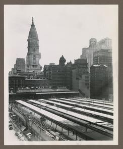 Broad Street Station, View of Umbrella Shelters, (Post 1923).