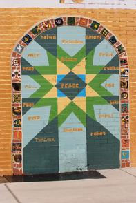 "Al-Aqsa mural: ""Doorway to peace"". Image provided by Historical Society of Pennsylvania"