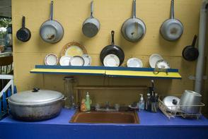 Kitchen at Las Parcelas Kitchen. Image provided by Historical Society of Pennsylvania