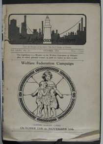 The Lighthouse Lantern cover, October 1930. Image provided by Historical Society of Pennsylvania