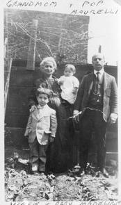 Vincent Maurelli with his sister, father, and paternal grandmother. Image provided by Vincent Maurelli