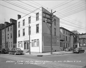 Franklin and Brown Streets. Image provided by City of Philadelphia Department of Records