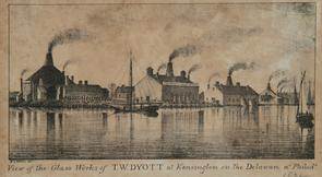 Glass works of T.W. Dyott. Image provided by Historical Society of Pennsylvania